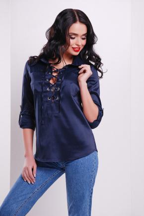 блуза Таора д/р. Цвет: темно синий