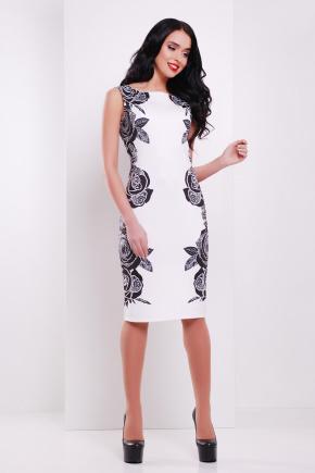 Розы-кружево платье Леричи б/р. Цвет: принт