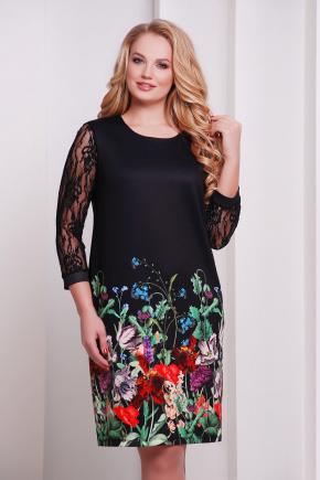 Букет платье Гардена-1Б д/р. Цвет: принт