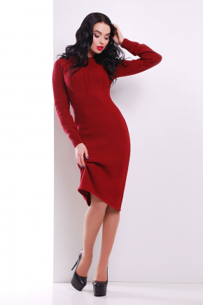 Платье 137. Цвет: бордовый