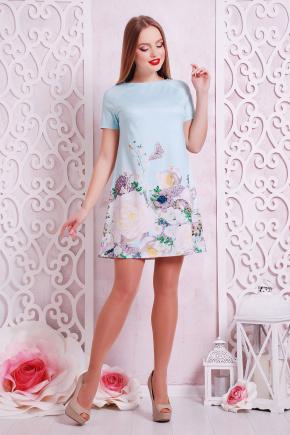 Розы-жемчуг платье Рея-1 к/р. Цвет: мята