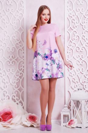 Розы-жемчуг платье Рея-1 к/р. Цвет: розовый