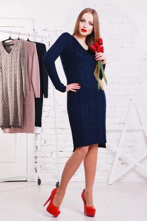 Платье 3045. Цвет: темно-синий
