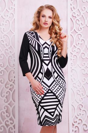 Имитация платье Калоя-2Б д/р. Цвет: принт