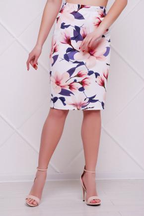 Магнолии юбка мод. №14 Оригами. Цвет: принт