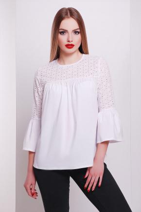 блуза Орнелла д/р. Цвет: белый