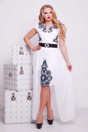 Кружево черное платье Аркадия-Б б/р. Цвет: белый