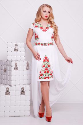Фольклор платье Аркадия-Б б/р. Цвет: белый