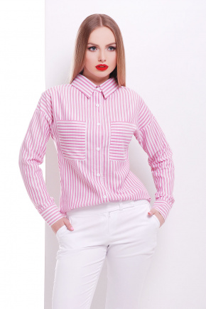 блуза Риканто д/р. Цвет: розовая м. полоска