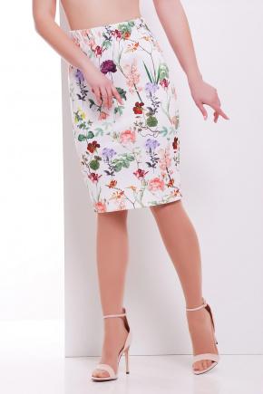 Цветочки юбка мод. №14 Оригами. Цвет: принт