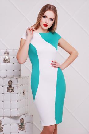 платье Скалея б/р. Цвет: мята-белый