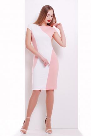 платье Скалея б/р. Цвет: персик-белый