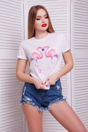 Фламинго футболка Boy-2. Цвет: принт