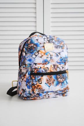 Рюкзак 231. Цвет: цветы-голубой