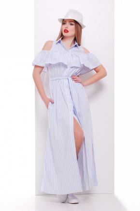 платье Лаванья б/р. Цвет: голубая полоска
