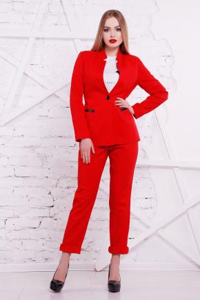 пиджак Синтия2 д/р. Цвет: красный-черная отделка