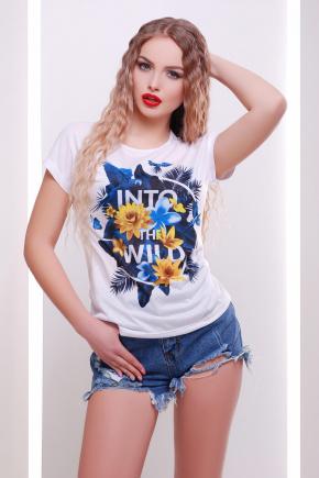 Into the wild футболка Кимоно. Цвет: принт