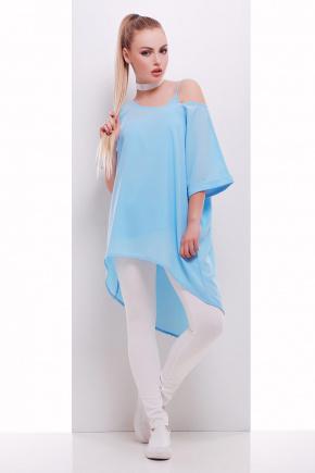блузон-майка Лоната к/р. Цвет: голубой