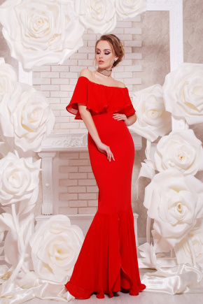платье Ламеция б/р. Цвет: красный