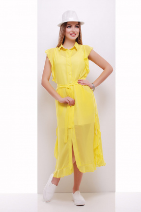 платье-накидка Сан-Вита б/р. Цвет: желтый