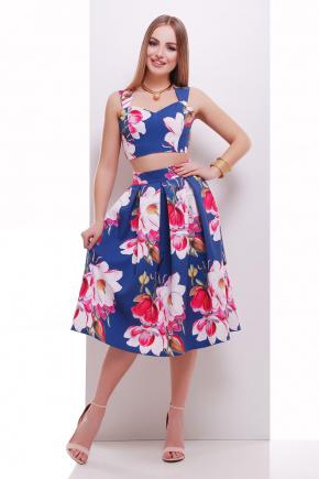 Магнолия юбка-топ №28. Цвет: синий