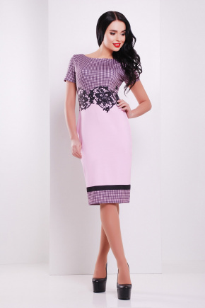 Лорета розовый платье Лоя-1 КД к/р. Цвет: принт