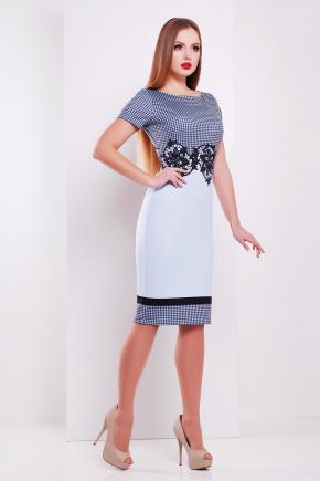 Лорета голубой платье Лоя-1 КД к/р. Цвет: принт