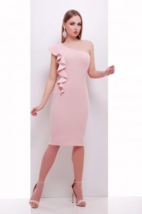 платье Виола б/р. Цвет: персик-белая отделка
