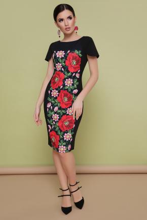 Маки платье Питрэса-КД к/р. Цвет: черный