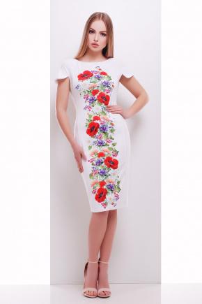 Цветы платье Питрэса-КД к/р. Цвет: белый