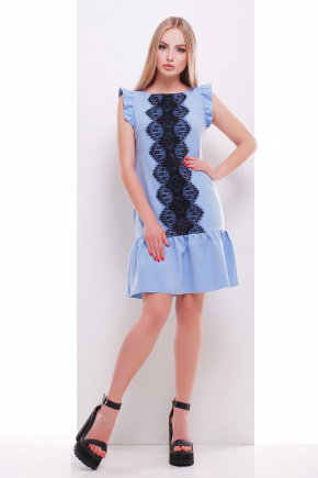 платье Южана б/р. Цвет: голубой