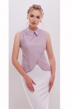 блуза Павлина б/р. Цвет: бордовая полоска