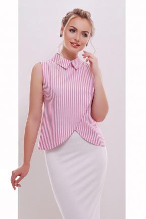 блуза Павлина б/р. Цвет: розовая полоска