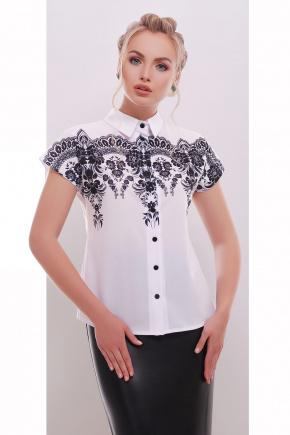 Узор черный блуза Элина б/р. Цвет: принт