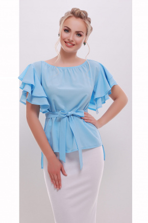 блуза Бьянка к/р. Цвет: голубой