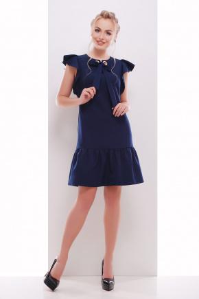 платье Антония б/р. Цвет: темно синий