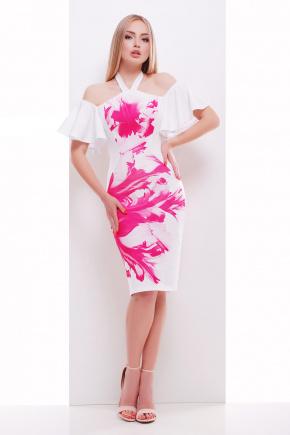 Розовый бриз платье Клариса к/р. Цвет: принт