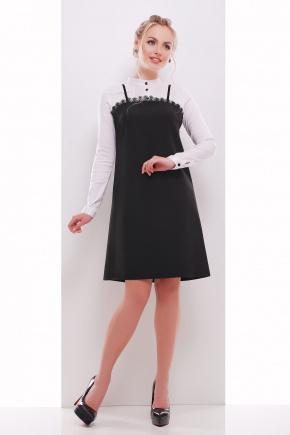 платье Николина д/р. Цвет: черный-белый