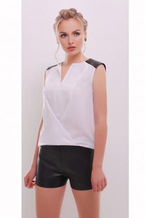 блуза Агата б/р. Цвет: белый-черная отделка