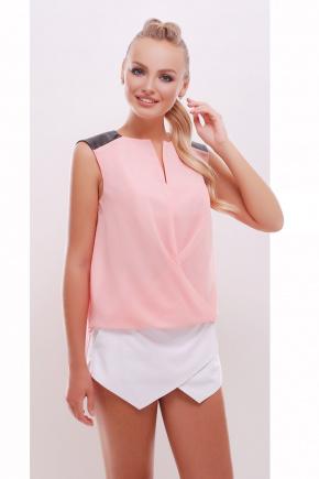 блуза Агата б/р. Цвет: персик-черная отделка