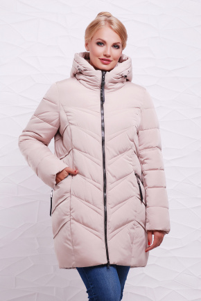Куртка 6061-1. Цвет: бежевый