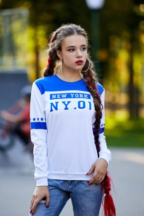 New York электрик кофта Свитшот №1Ф (весна) д/р. Цвет: принт