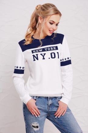 New York т.синий кофта Свитшот №1Ф (весна) д/р. Цвет: принт