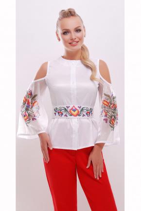 Цветок жизни блуза Любава д/р. Цвет: белый