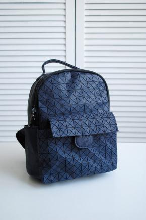 Рюкзак 666. Цвет: т.синий-черный
