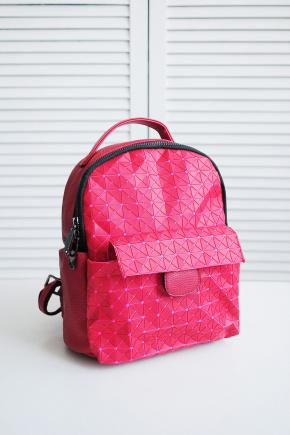 Рюкзак 666. Цвет: красный-розовый