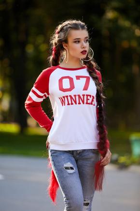 07 Winner красный кофта Виннер д/р. Цвет: принт