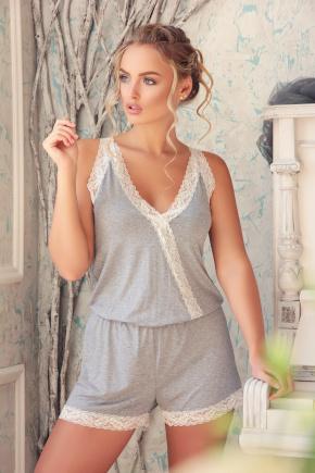 Пижама-комбинезон-029. Цвет: св. серый