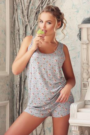 Пижама-комплект-майка-009. Цвет: пироженки