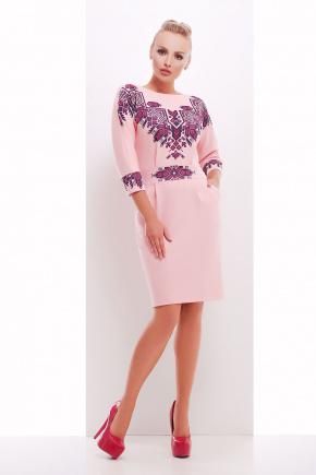 Этно узор платье Эльма д/р. Цвет: персик